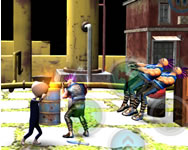 Stickman police vs gangsters street fight online